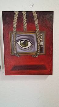 Leah Saulnier The Painting Maniac - Eye Witness 2 wip