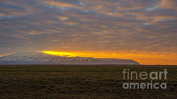 Eyjafjallajokull Sunrise Iceland by Chris Thaxter