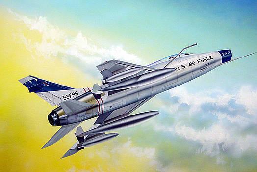 F-100 Super Sabre by C S Bailey