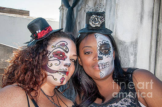 Face Painted Friends on All Saints Day by Kathleen K Parker