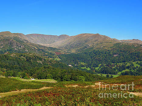 Fairfield Horseshoe from Loughrigg Fell in the Lake District by Louise Heusinkveld