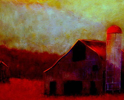 Fall  Barn by Kent Whitaker