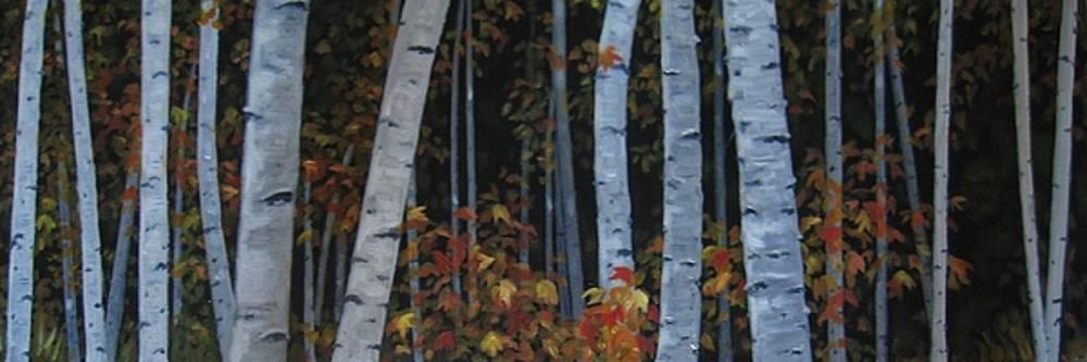 Fall Birch by Karen Snider