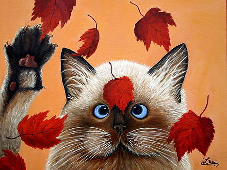 Fall Cat by Chris Law