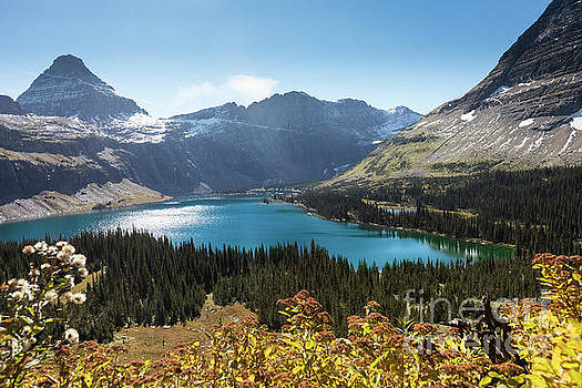 Fall Foliage Overlooking Mountain Lake by Brandon Alms