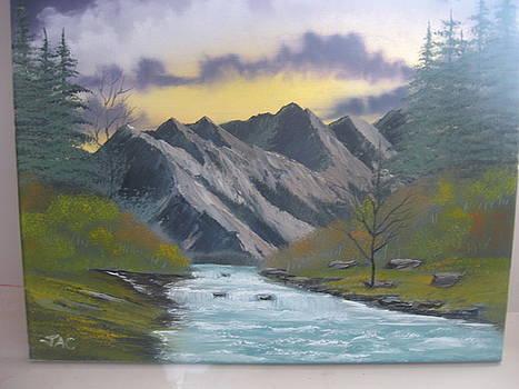 Fall time stream by Jim Carreau