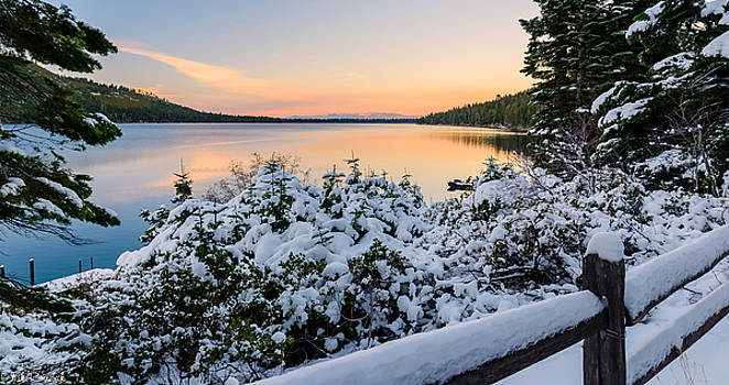 Fallen Leaf Lake by Mike Ronnebeck