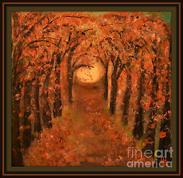 Falling Leaves  by Mindy Bench