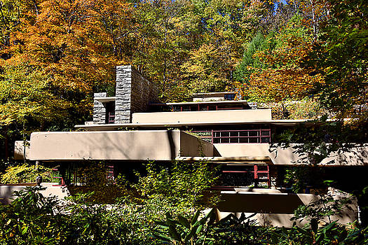 Fallingwater during Autumn by Brendan Reals