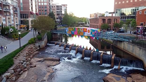 Falls Park, Greenville, SC by Kathy Barney