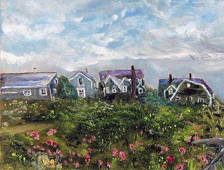 Falmouth Beach Cottages by Michael Helfen