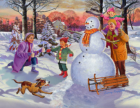 Family Fun In The Snow by Valer Ian