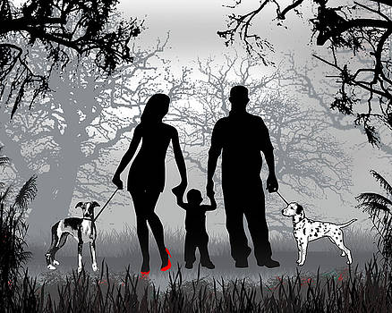 Family Walks With The Dogs by Peter Stevenson