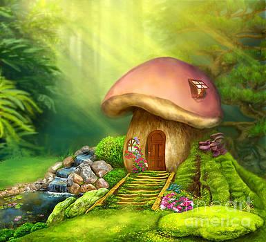 Fantasy mushroom house  by Alena Lazareva
