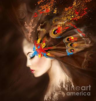 Fantasy Portrait beautiful woman butterfly. by Alena Lazareva