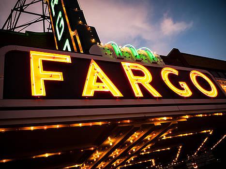 Paul Velgos - Fargo Theatre Sign at Night Picture