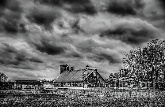 Farm House Black and White by Peggy Franz