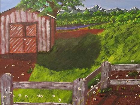 Farm Painting by David Bartsch