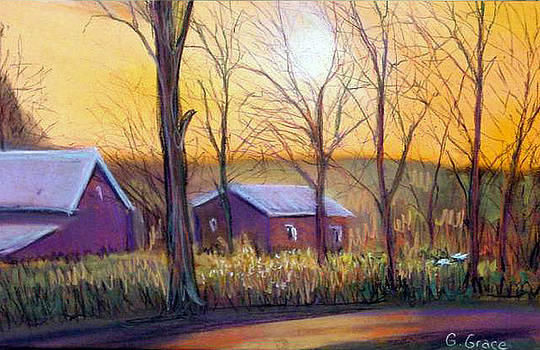 Farmhouse Autumn by George Grace