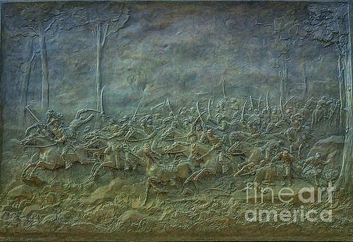 Farnsworth's Charge Gettysburg by Randy Steele