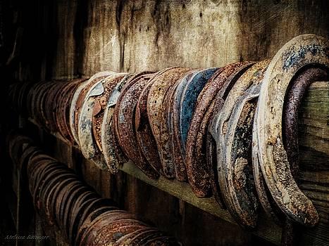 Farrier's Trade, Blacksmith Horsehoes by Melissa Bittinger