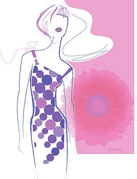 Fashion Illustration of Elegant Woman by Lisa Henderling