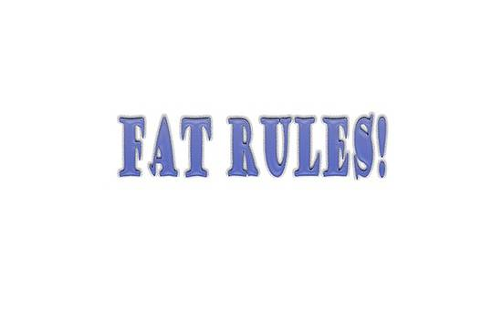 Fat Rules by Angela A Stanton