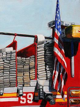 PAUL WALSH - FDNY ENGINE 59 American Flag