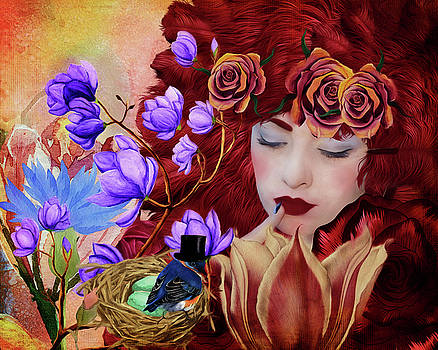Feathers and Flowers by Terry Fleckney