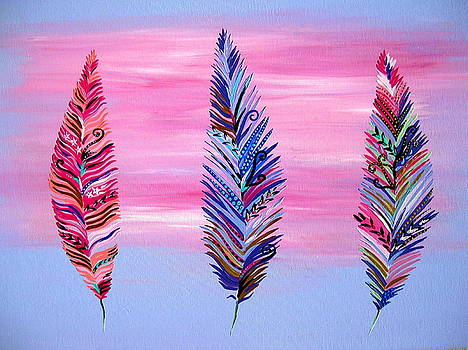 Feathers II by Cathy Jacobs