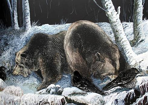 Feeding frenzy with Grizzly Bears by Jan Lowe