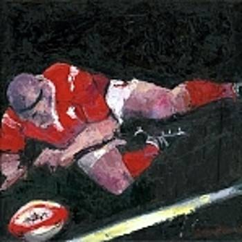 Feel The Passion First Try Ltd Edition Canvas  Rugby Prints Collection  by Allan Storer M A medium print Six Nations