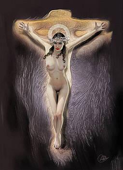 Female Christ by Quim Abella