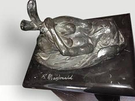 Female Nude III, Blanc Noir by Richard MacDonald