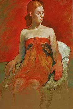 Female With Bare Shoulders by Evelyn  M  Breit