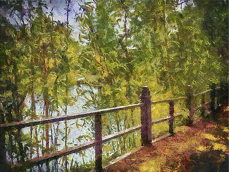 Fence at Lake by Joseph Hollingsworth
