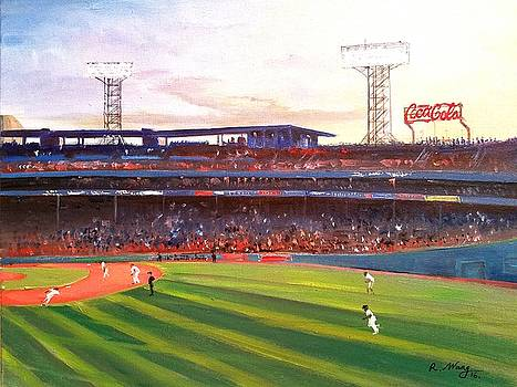 Fenway park by Rose Wang