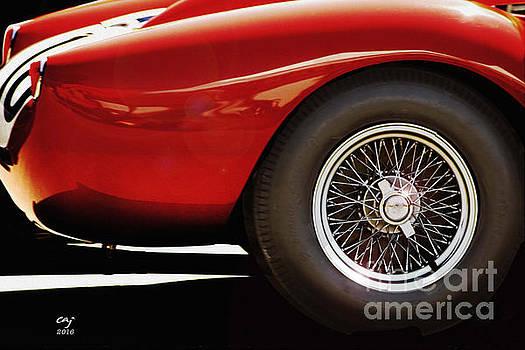Ferrari 250 TR Fender And  Wheel by Curt Johnson