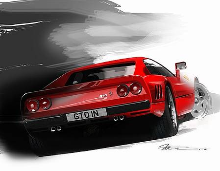 Ferrari 288 GTO by Fred Otene