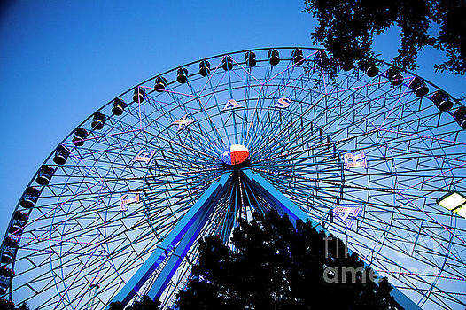 Ferris Wheel at Dusk, The State Fair of Texas by Greg Kopriva