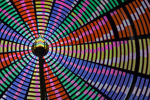 Ferris Wheel Night Colors by Steven Bateson