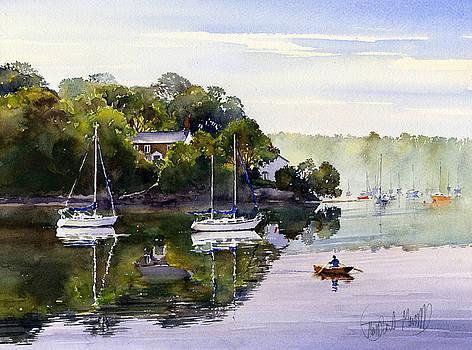 Ferrymans Cottage Malpas by Margaret Merry