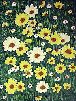 Field of Daisies by Maggie Ullmann