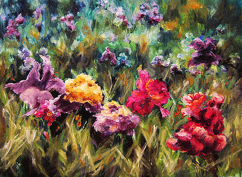 Field Of Flowers by Diane Kraudelt