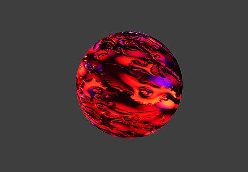 Fiery sphere. by Alexandr  Malyshev