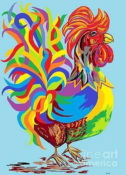 Fiesta Rooster by Eloise Schneider