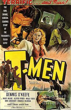 Film Noir Poster design 2 T Men  by R Muirhead Art