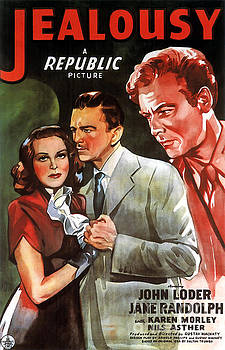 Film Noir Poster  Jealousy by R Muirhead Art
