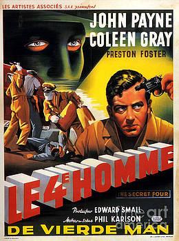 Film Noir Poster  Kansas City Confidential Le 4E Homme by R Muirhead Art