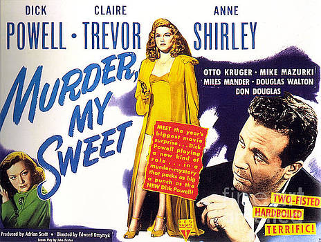 Film Noir Poster  Murder My Sweet by R Muirhead Art